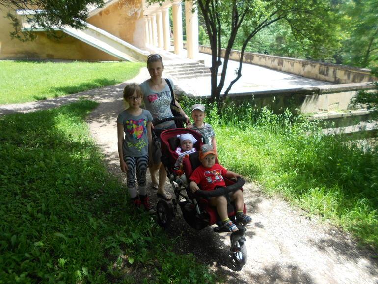 Гуляли в субботу в парке)