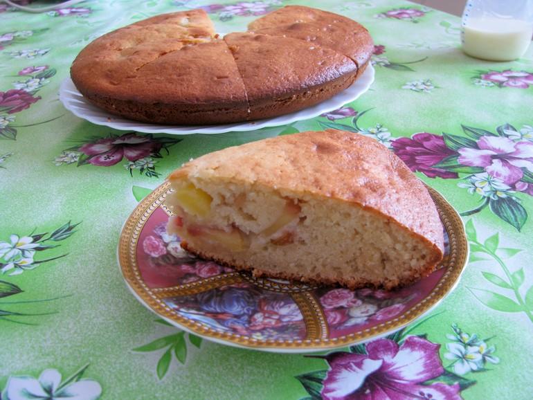 Пирог яблочный (на кефире)