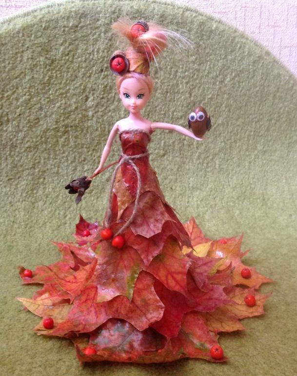 Поделка платье для куклы