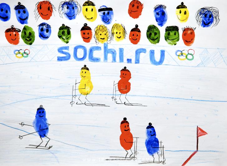 Поделки на спортинвую тему - Олимпиада 2014 на бумаге.
