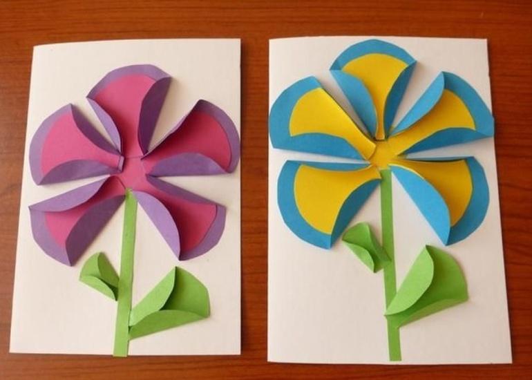 Поделки из цветной бумаги для детей 6 лет