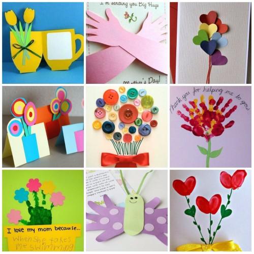 Открытка на 8 марта от ребенка своими руками