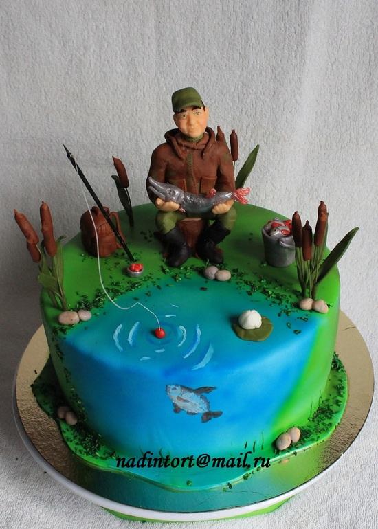 торты папе рыбаку