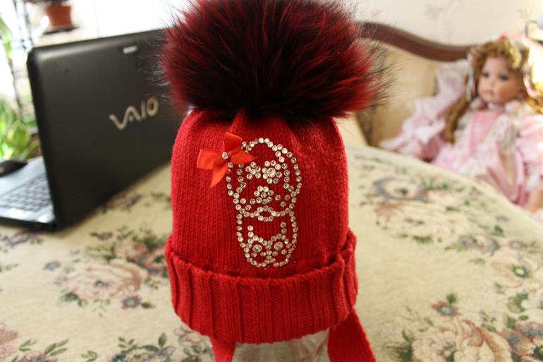 Куртка Ruba Cuori + шапка с мех. помпоном, д/девочки, р-р 30 мес, до 3-4 лет, Москва, Кунцево