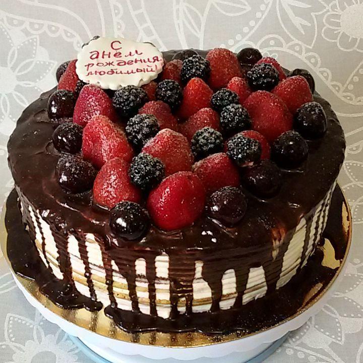 Торт сметанный с ягодами рецепт пошагово