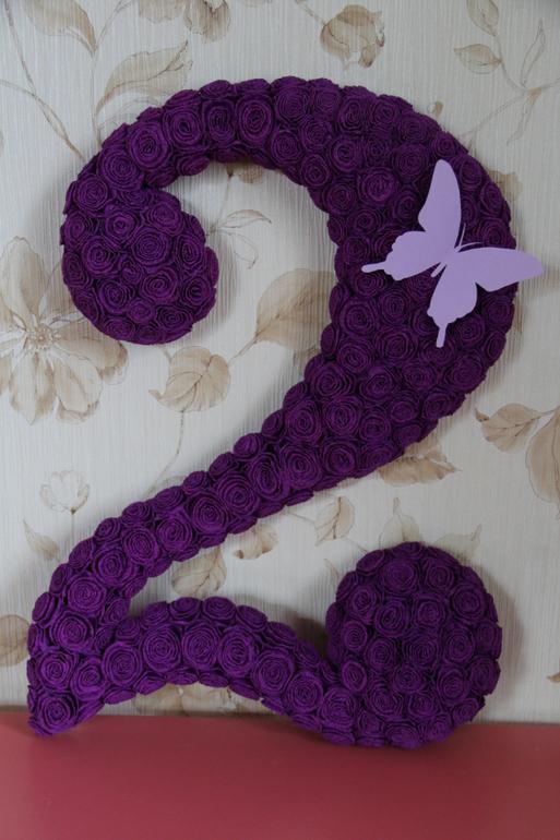Цифра 2 на день рождения своими руками для девочки