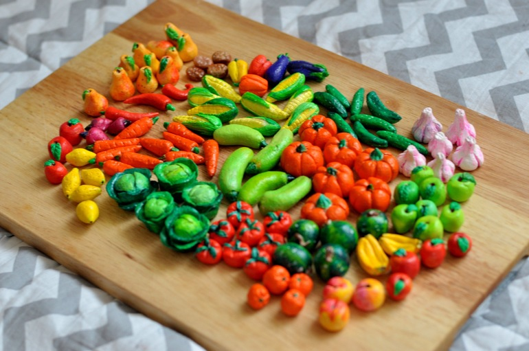 Овощи из солёного теста своими руками фото по шагам для детей