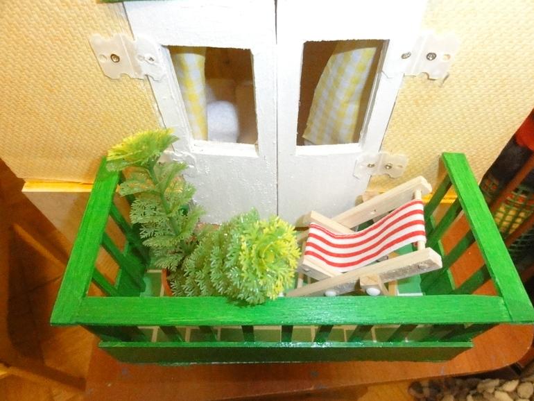 Игровой кукольный домик - ручная работа.