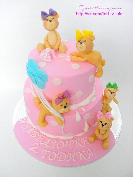 Торты для девочки с мишками)))