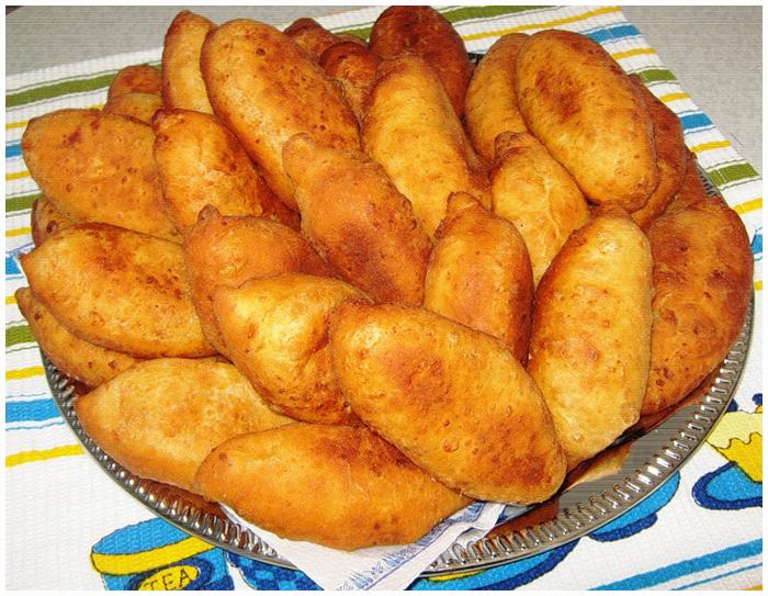 пирожки с картошкой и яйцом жареные