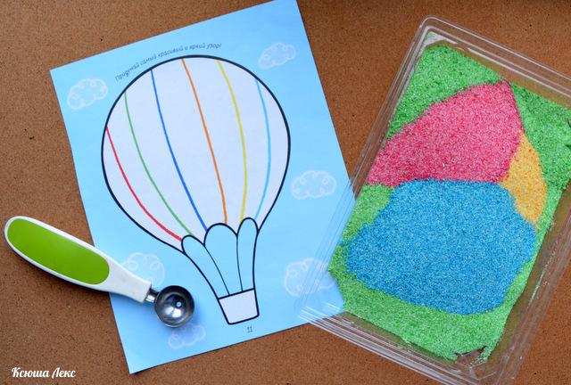 Как сделать цветной песок из манки своими руками 96