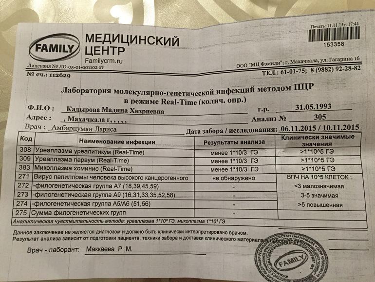 Пришёл мой анализ на уреаплазму - запись пользователя Madina (madik31) в сообществе Зачатие в категории Инфекции - Babyblog.ru
