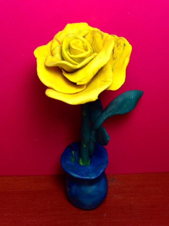 Букетик от Сени и роза от Сани