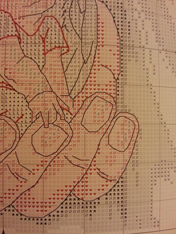 Вышивка крестиком схемы маков 39