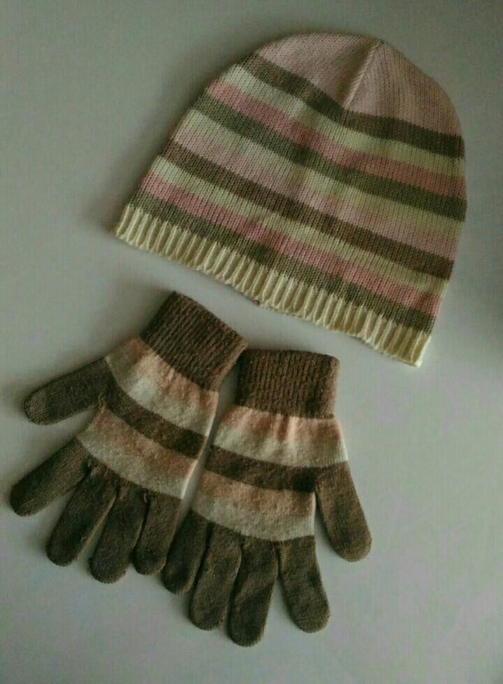 Шапка Alessandro Frenza и перчатки C&A