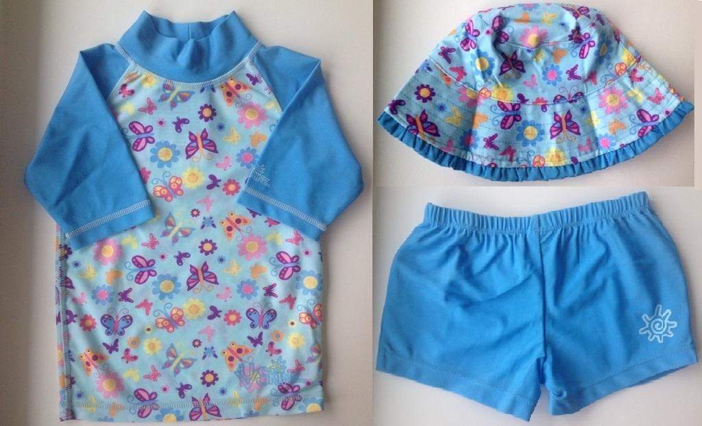 Купальный костюм с бабочками (новый)