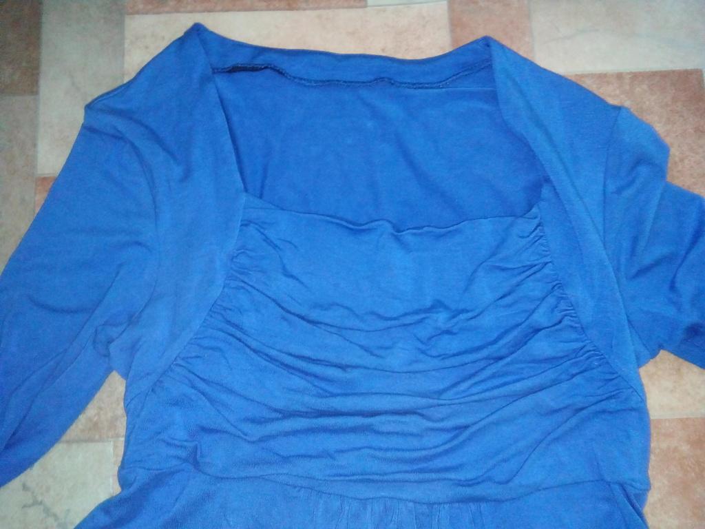 Платье туника с драпировкой на груди