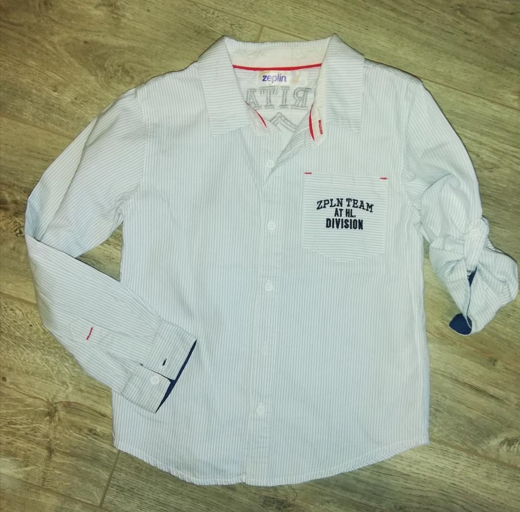 Стильная рубашка р. 116, можно сделать короткий ру