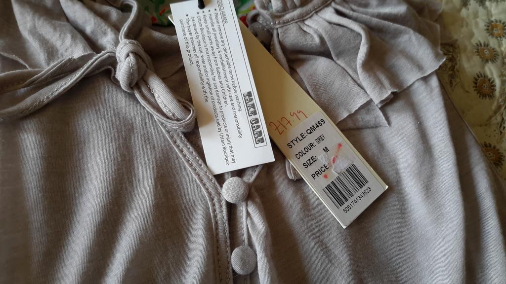 Блузка Uttam серого цвета размер М 100% хлопок