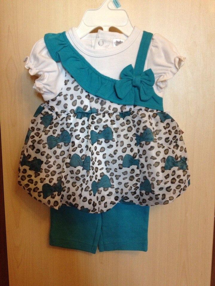 Костюмчик для девочки: туника и штанишки