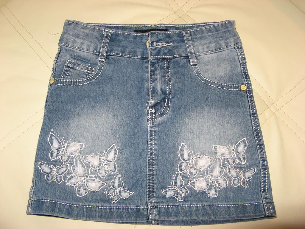 Юбка джинсовая. Рост 122 см