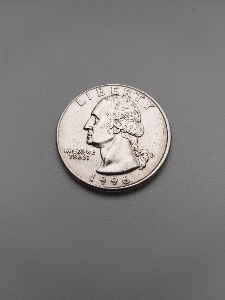 25 Центов 1996 год D США