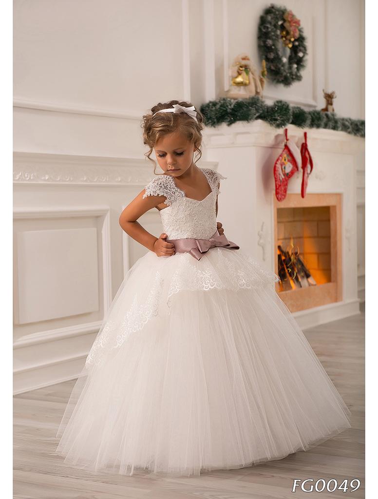 Детское платье для девочки в пол