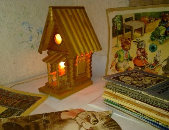 Светильник - ночник, Домик теремок, СССР, старый