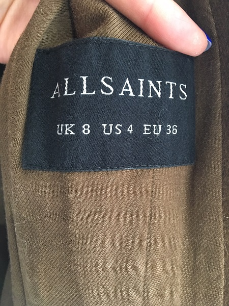 Пальто All Saints