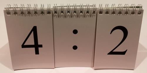 Перекидное табло для устного счета (ламинированное