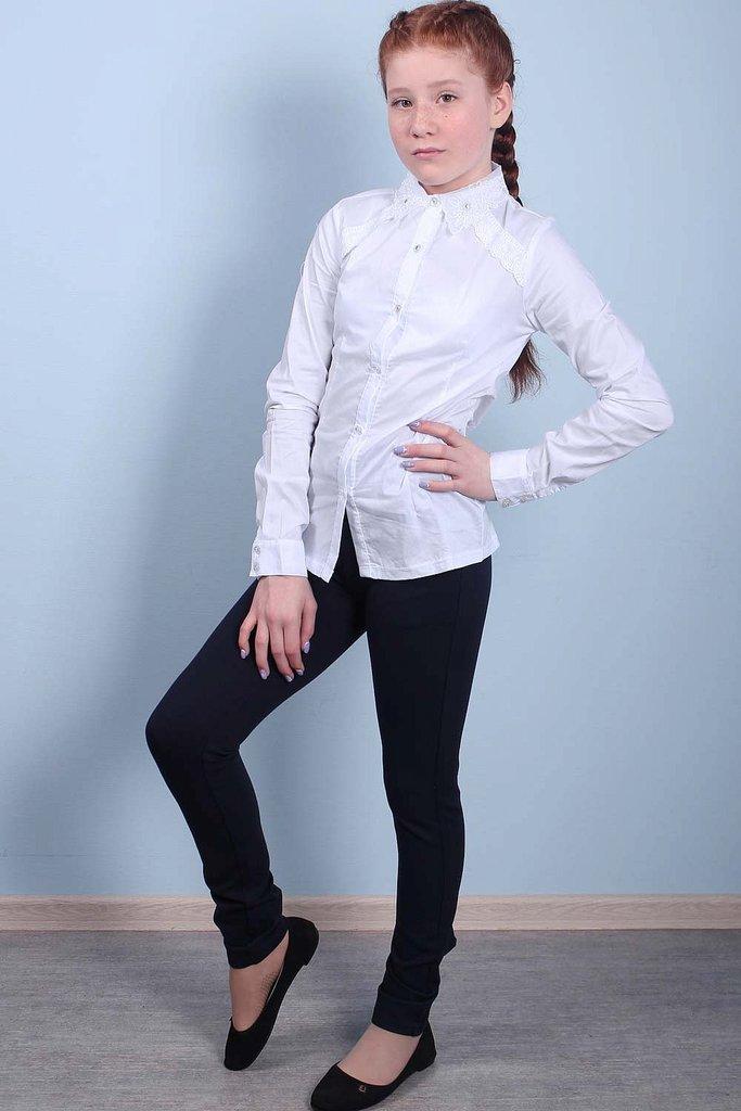 Белая блуза KidsKingdoms рост 128