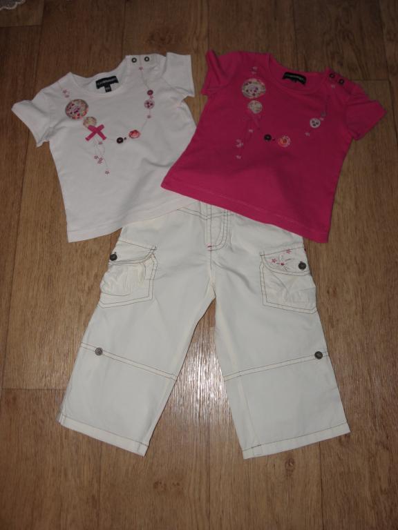 Комплект 2 футболки+брюки/бриджи Jean Bourget