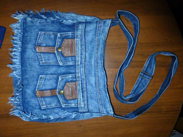 сумка джинсовая cross-body