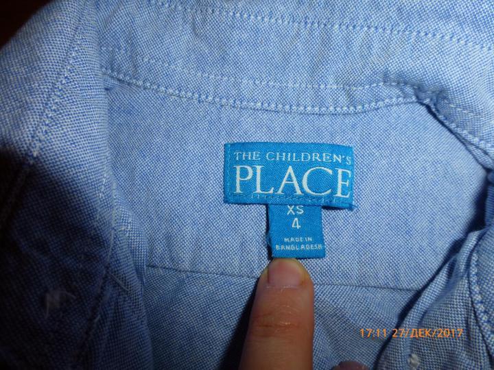 Рубашка The Children's Place на 4-5летнего, б/у