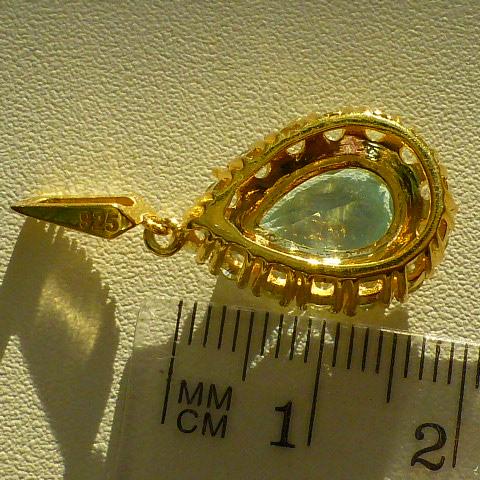 кулон серебро 925*+золото+топаз+цирконы