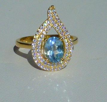 кольцо перстень серебро 925*+золото+топаз+цирконы