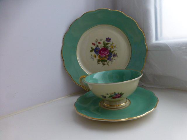 десертный набор Royal Bayreuth \ Ardalt салатовый