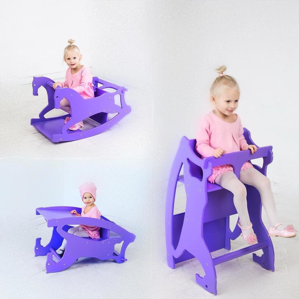 Мебель-трансформер 3в1 (стульчик,парта,каталка)