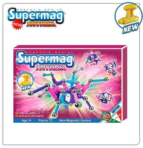 Новый магнитный развивающий конструктор Plastwood Supermag (в коробке, есть в синем, зеленом и розовом цвете)