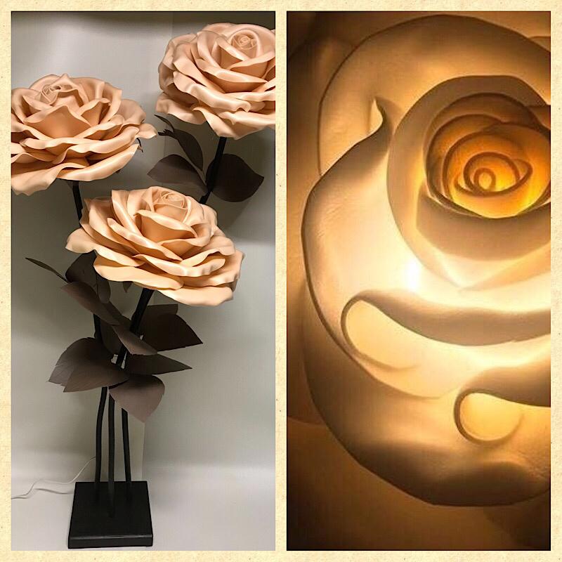 ростовая роза -Торшер-светильник.