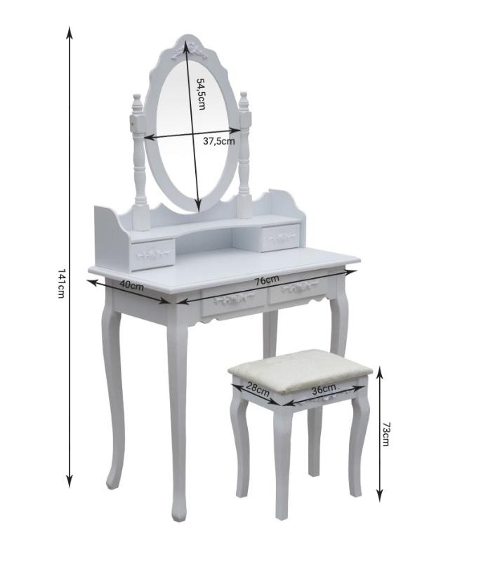 Туалетный столик для девочки со стулом