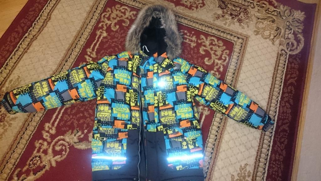 Куртка зима ленне 134см + полукомбез новый