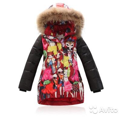 Куртка кошечка на девочку до 135см