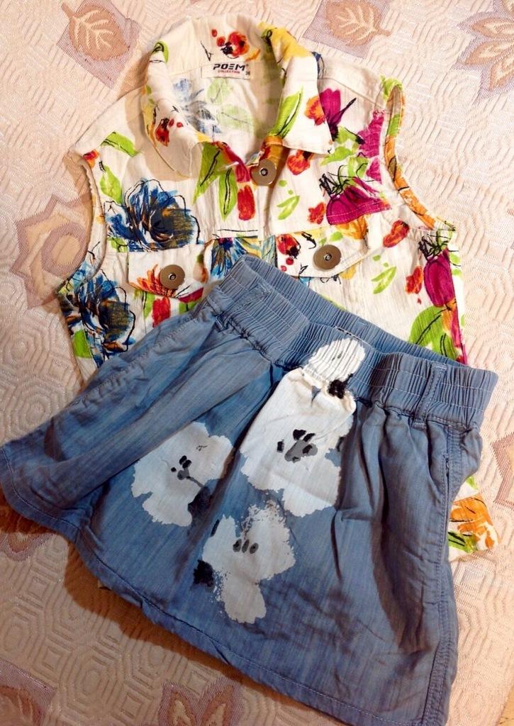 Жилетка и юбка на девочку - девушку