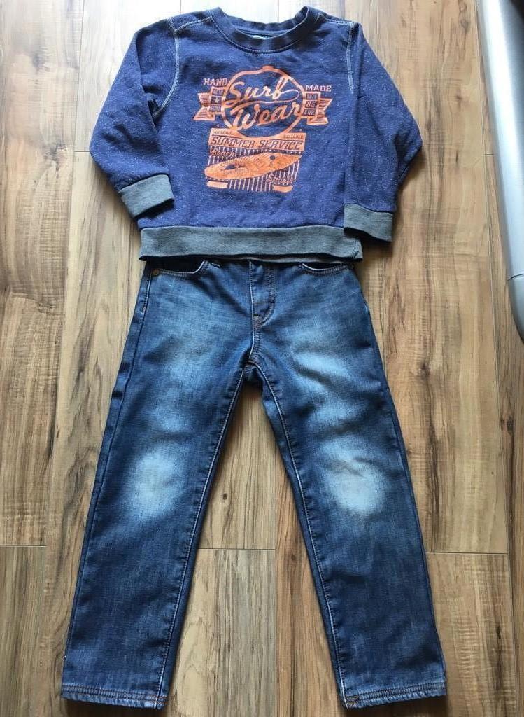 Комплект джинсы кофта 116