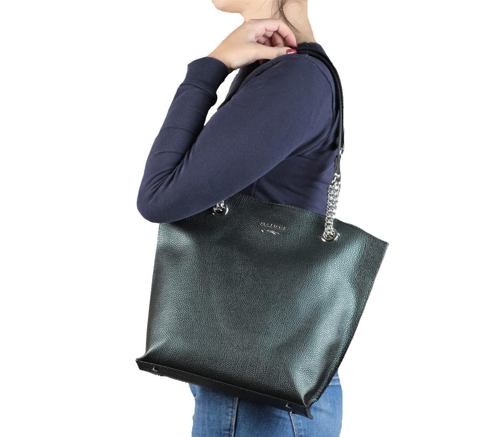 Новая элегантная кожаная сумка Италия зеленая