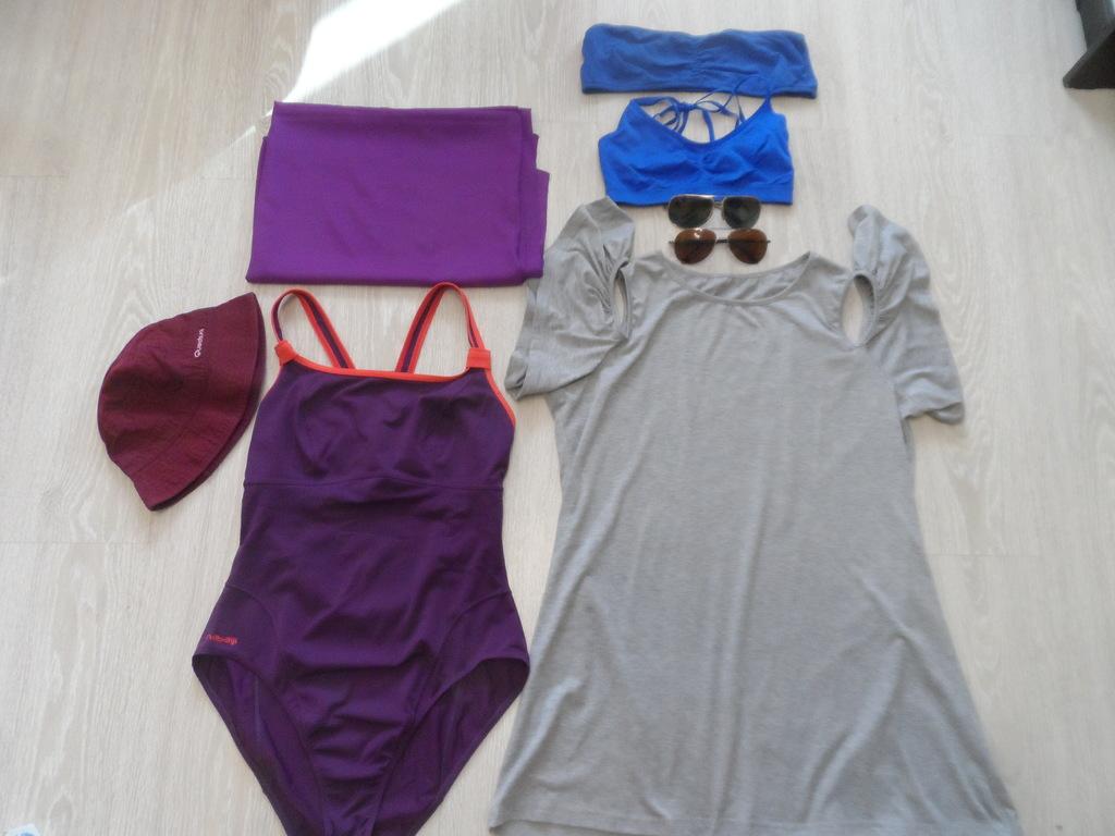 Пакет купальник парео очки.Туника-платье топ бандо