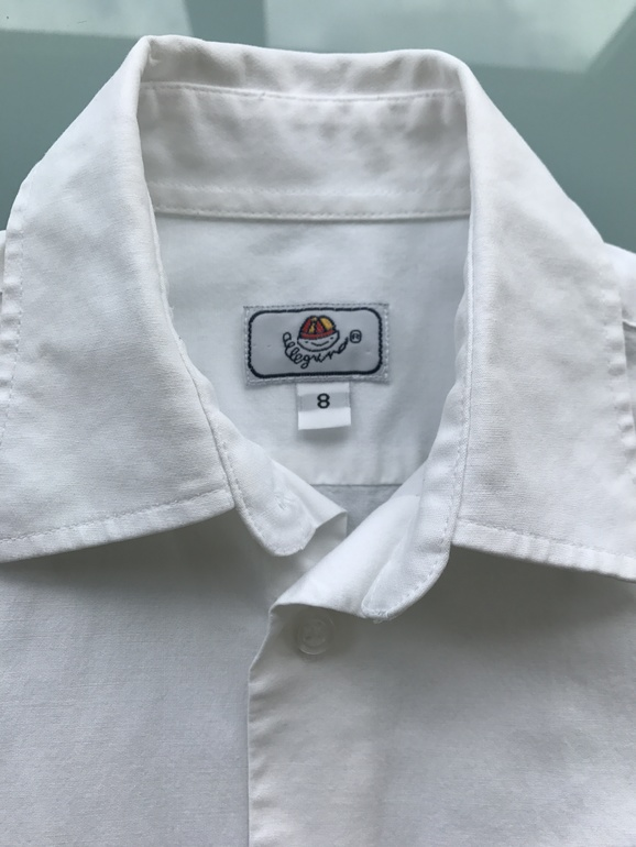 Белая рубашка (школьная) р.128 (7-8л) в идеале!