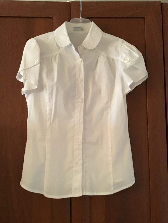 Белая блузка с коротким рукавом sky lakе