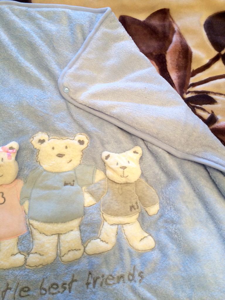 конверт-плед с медвежатами